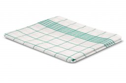 dish cloth green white