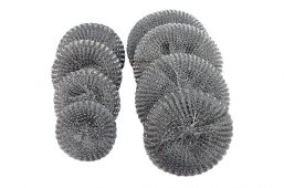 Wire mesh scourers zinc galvanized (10 pcs./25 pcs. in. pack.)