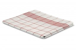dish cloth red white